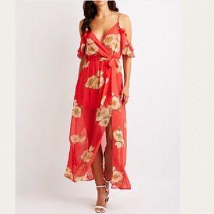 Floral Wrap Maxi Dress! 🌸